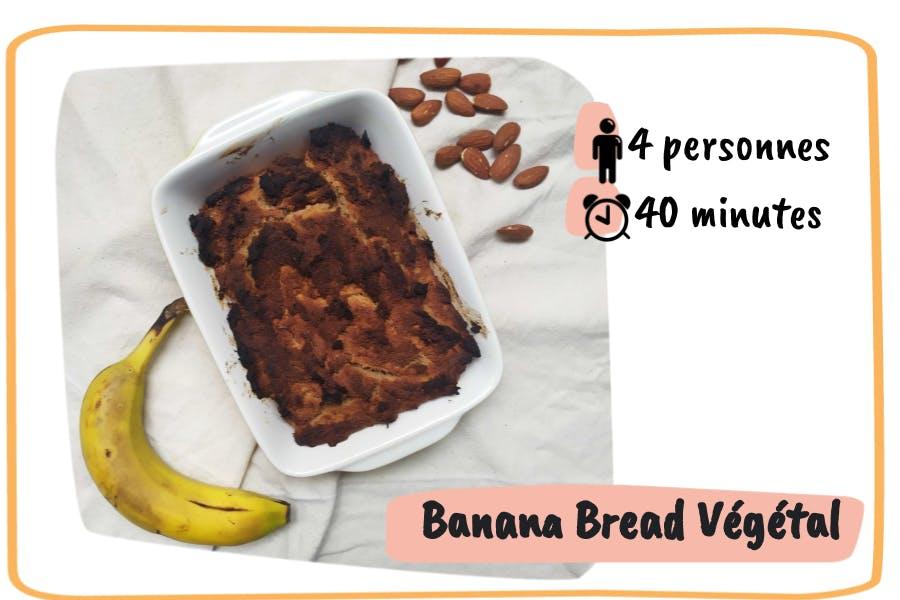 Présentation du banana bread végétal