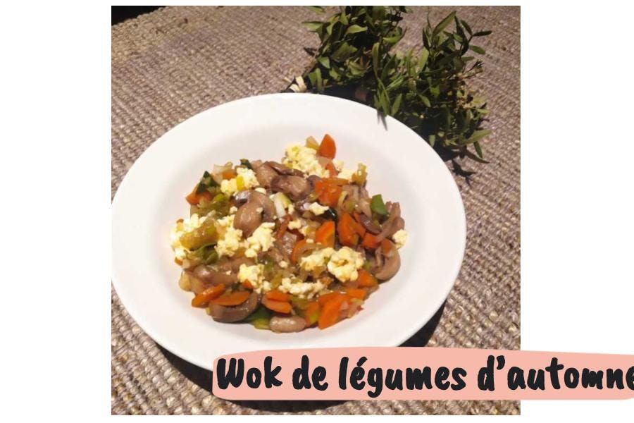 wok de légumes d'automne