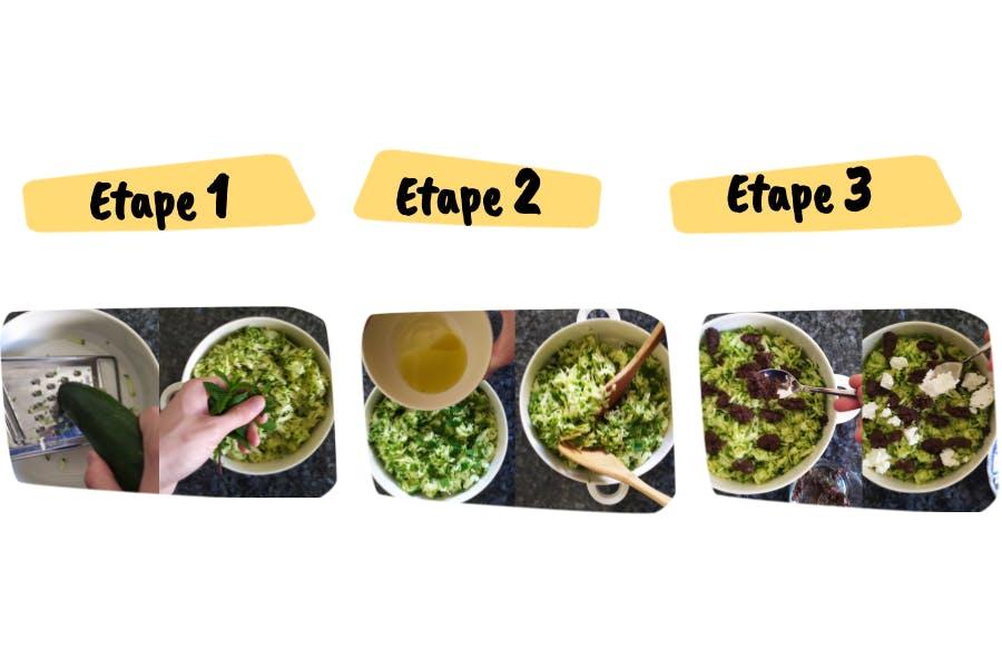 Etapes de la Recettes salade tapenade