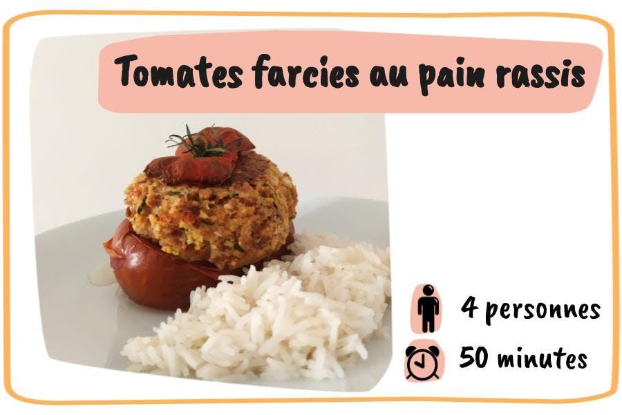 Tomates farcies au pain rassis