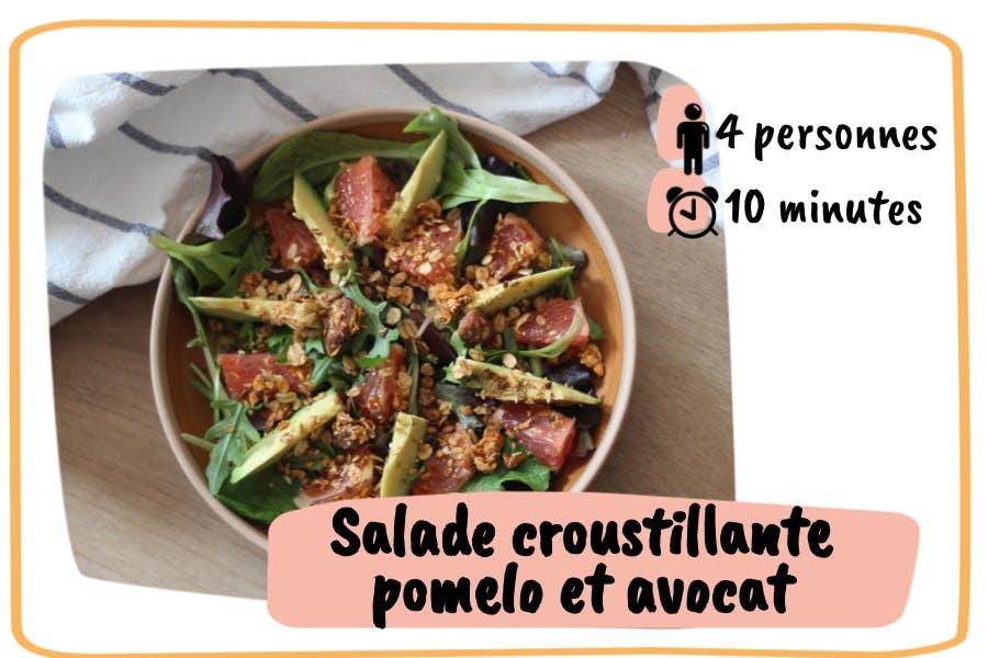 Recette Salade Croustillante Pomelo et Avocat
