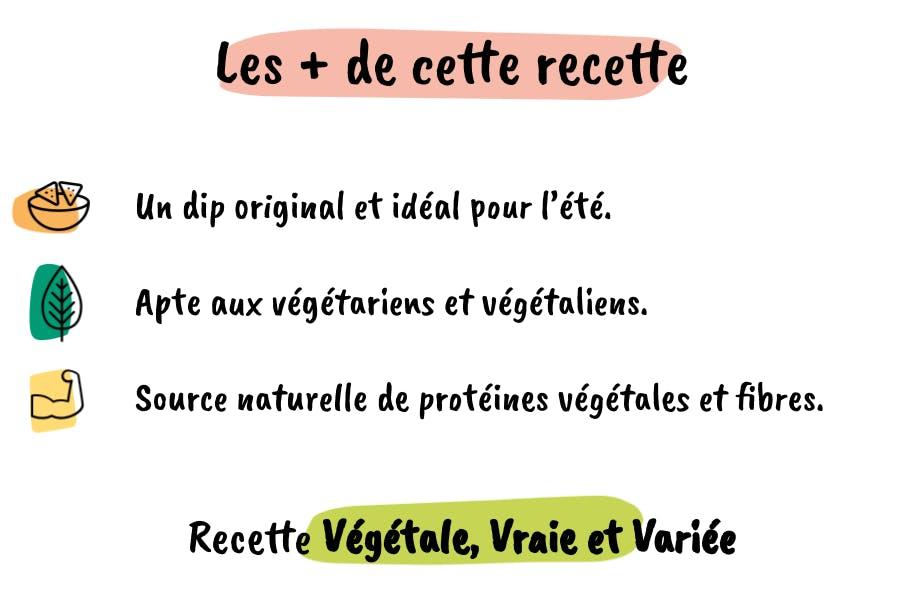 Les atouts de cette recette : originale, vegan et source naturelle de protéines végétales.