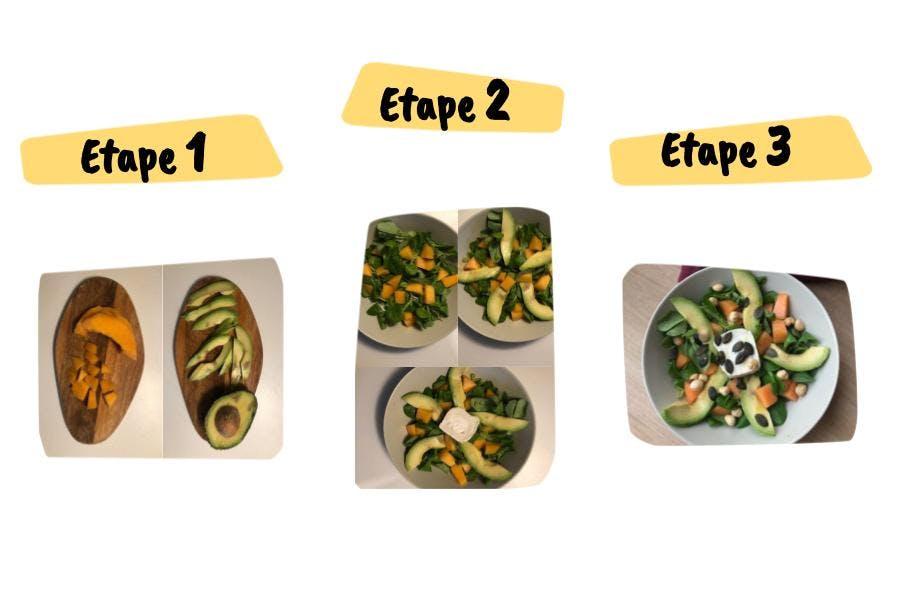 étapes salade été melon