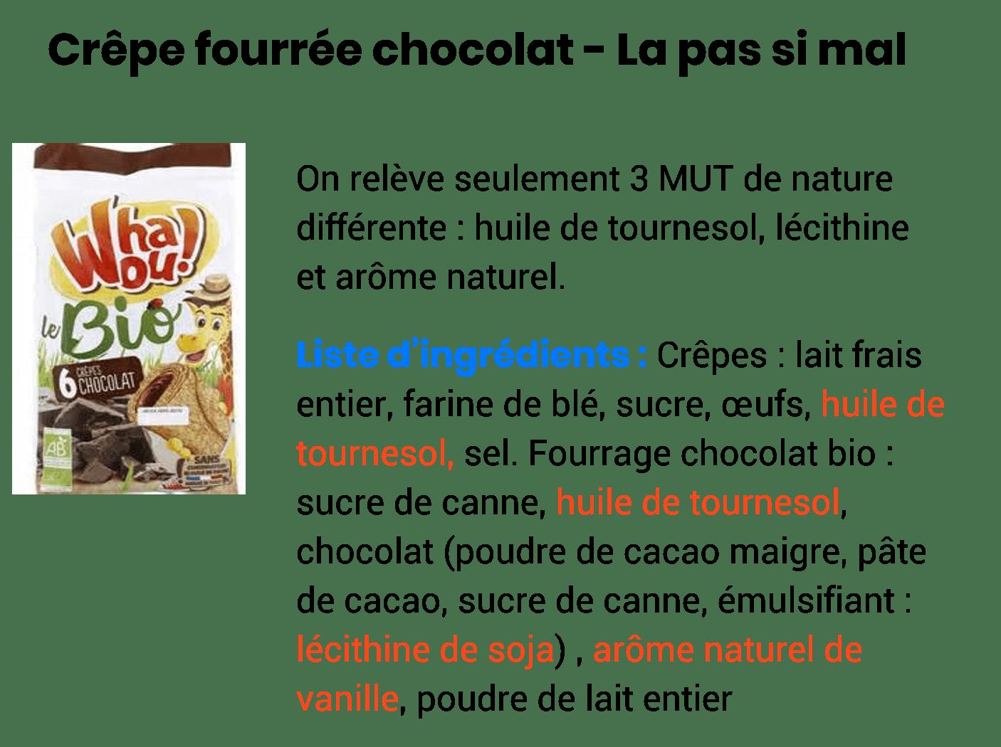 crêoe fourrée au chocolat de supermarché