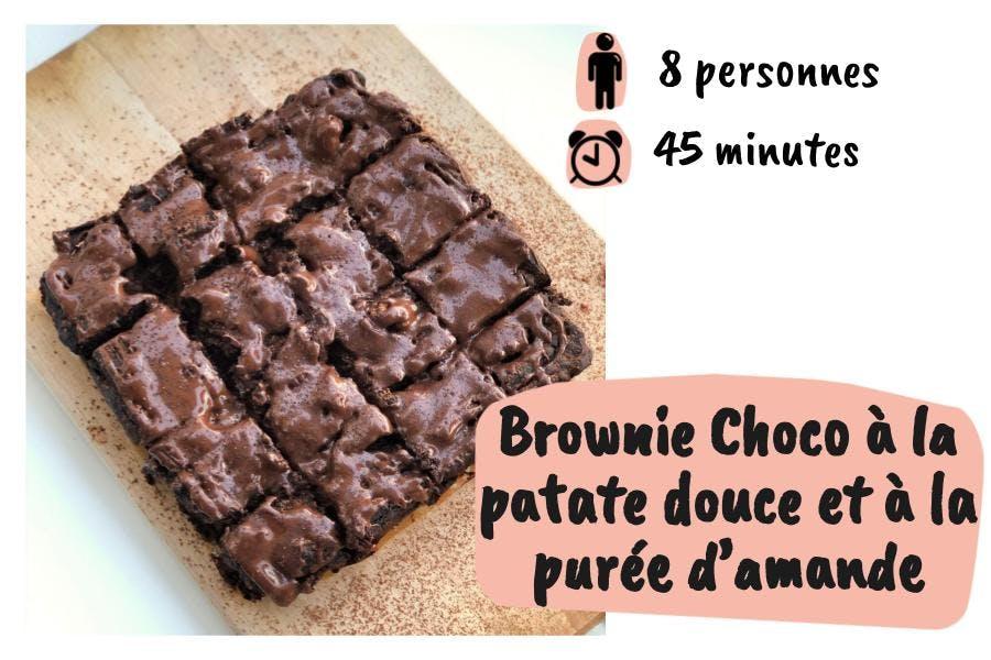 Brownie choco amande patate douce