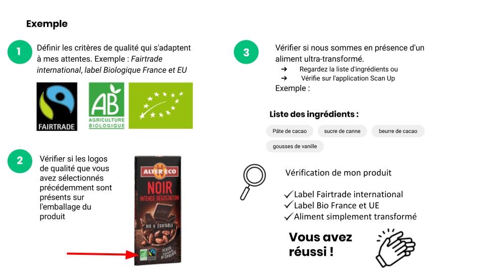 exemple 1 : utiliser les labels alimentaires pour mieux choisir vos produits