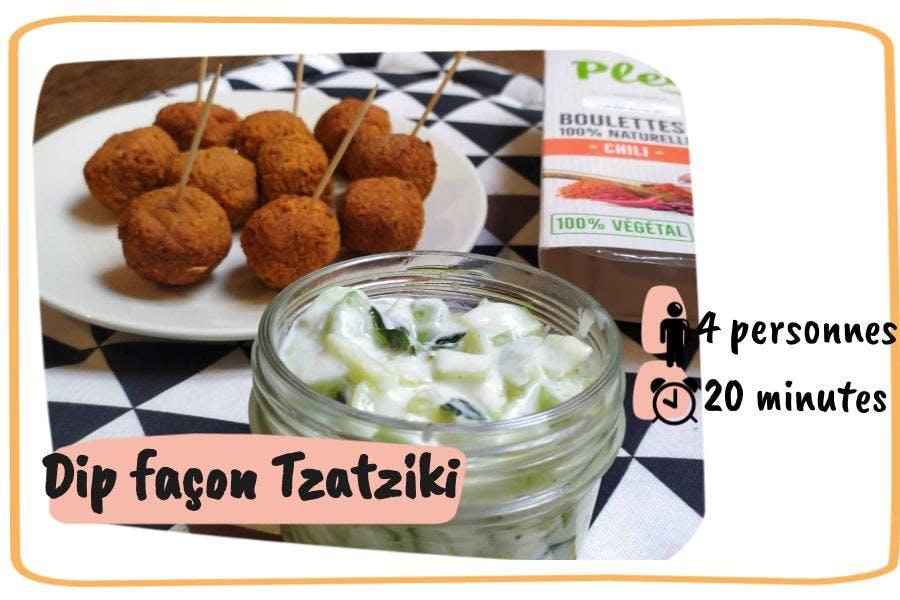 Une recette de dip apéro façon tzatziki pour 4 personnes en 20 minutes