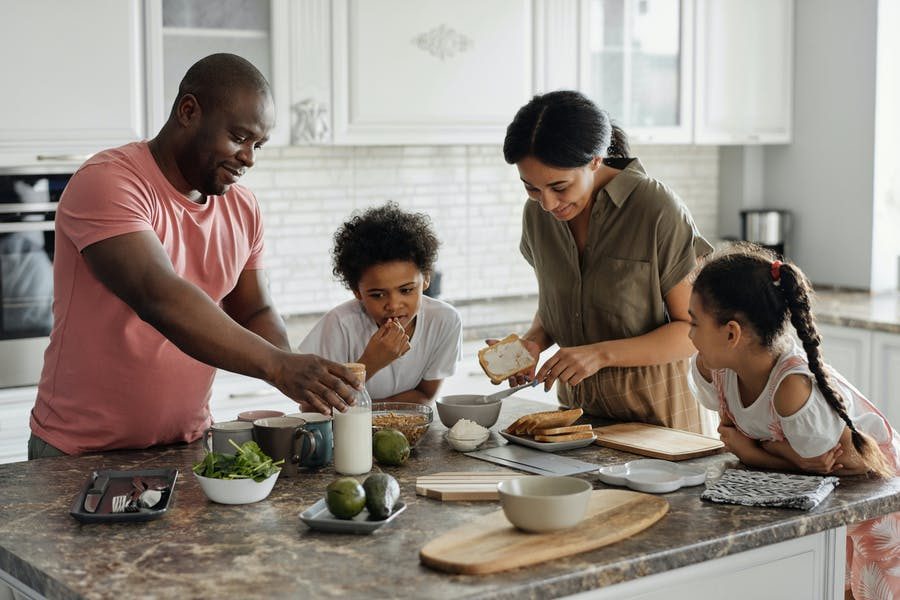 Un repas en famille