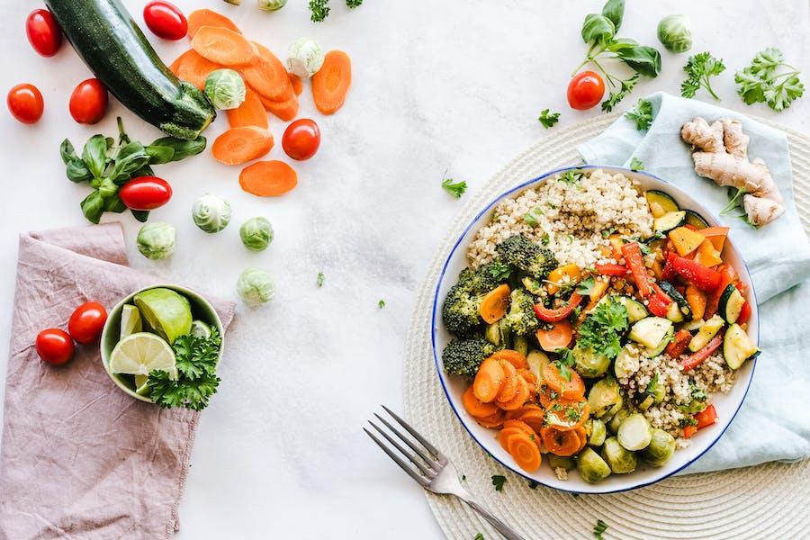 Un repas végétal pour une alimentation saine