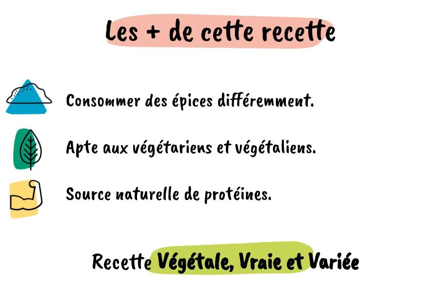 Les plus de cette recette de dahl aux lentilles : des épices, des protéines, et apte aux végétariens et vegan.